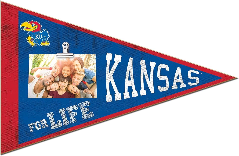 KH Sports Fan 18.5x12 Kansas Jayhawks Pennant Clip-It Photo Frame Multi