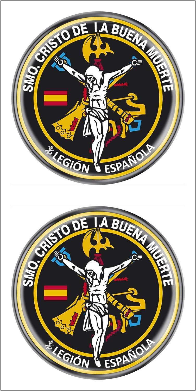 Artimagen Pegatina círculo Legión Santísimo Cristo de la Buena Muerte 2 uds. Resina ø 33 mm/ud.: Amazon.es: Coche y moto