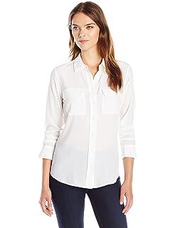 7fff9895b0f13c Amazon.com  Equipment Women s Short Sleeve Slim Signature Shirt ...