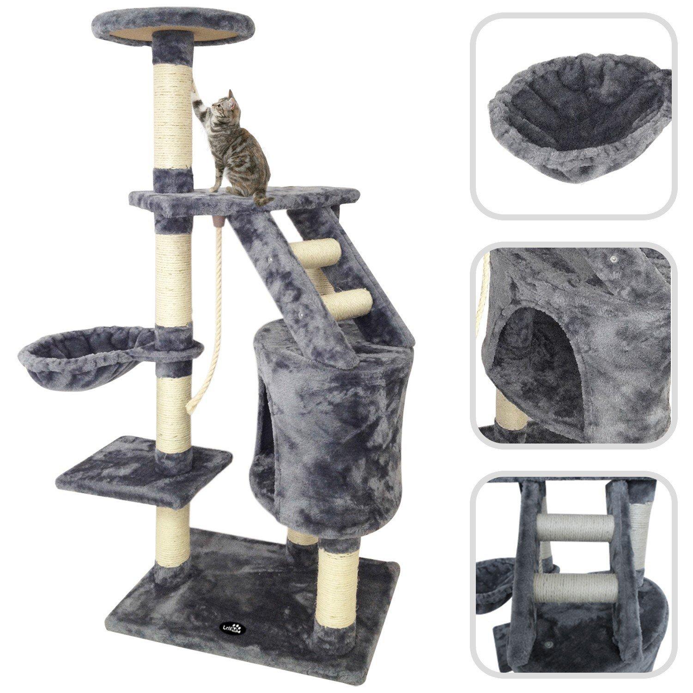 Todeco Árbol para Gato con Rascador Torre para Rascar de Sisal Natural