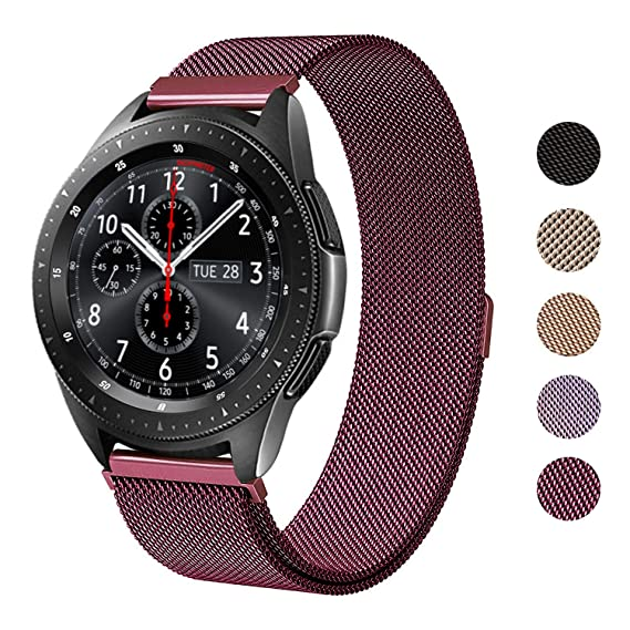 SWEES Metal Band Compatible Samsung Galaxy Watch 42mm, 20mm Magnetic Stainless Steel Metal Replacement Band for Galaxy Watch 42mm, Gear Sport, Gear S2 ...