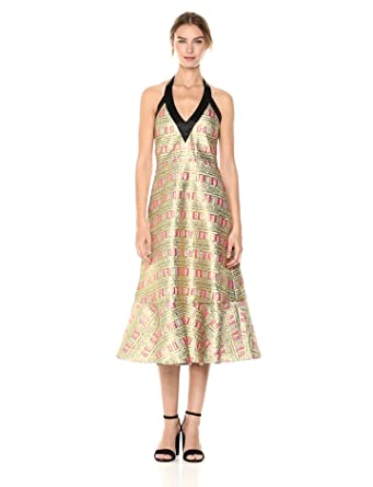 Amazon Com Cynthia Rowley Women S Bonfire Brocade Dress Clothing