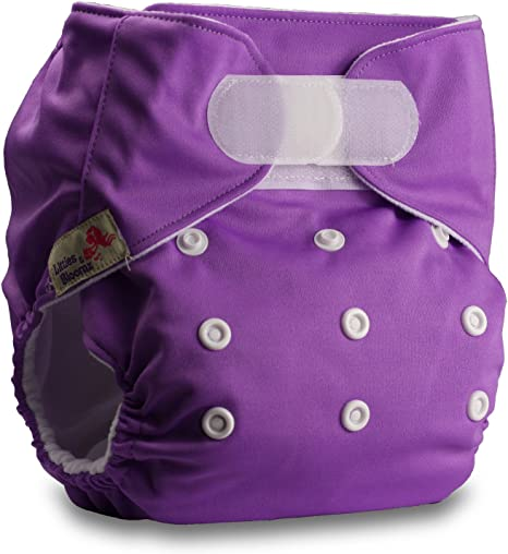 with 1 Microfibre Insert Set of 1 Pattern 11 Reusable Pocket Cloth Nappy Fastener: Hook-Loop Littles /& Bloomz