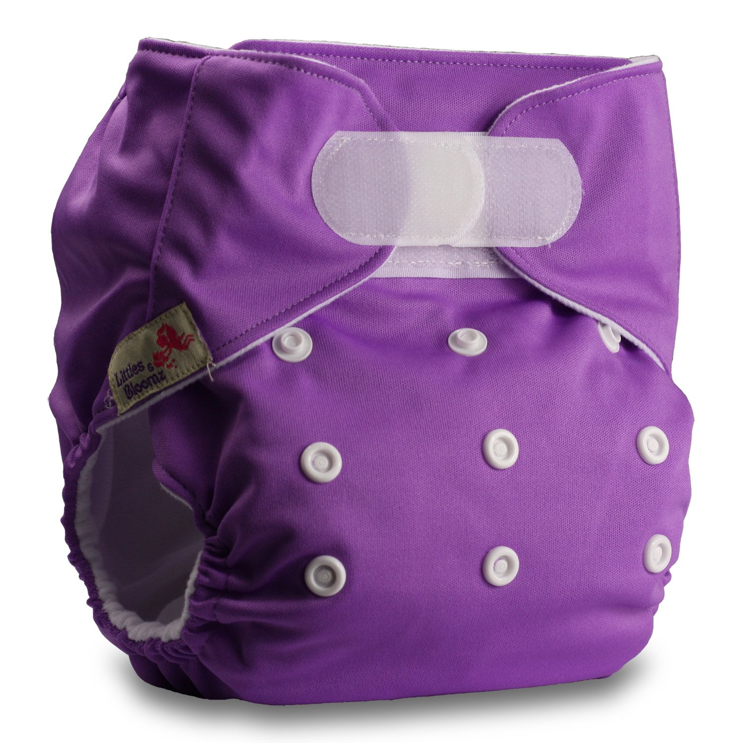 Fastener: Hook-Loop Littles /& Bloomz Pattern 41 with 1 Bamboo Insert Set of 1 Reusable Pocket Cloth Nappy