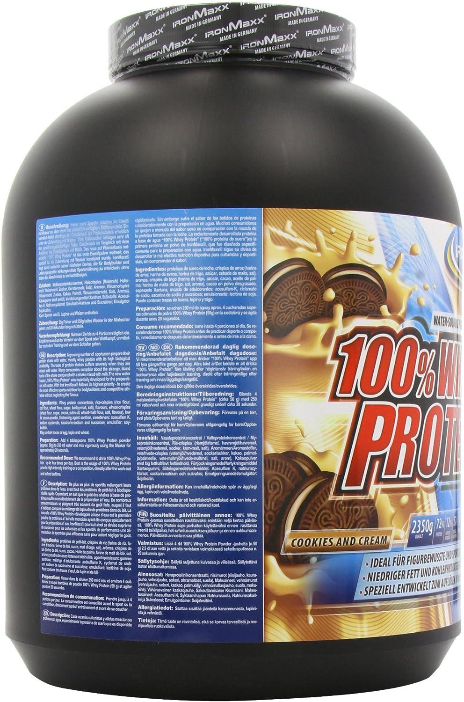 IronMaxx Ironmaxx Sabor Galletas Y Crema 100% Polvo Proteína ...
