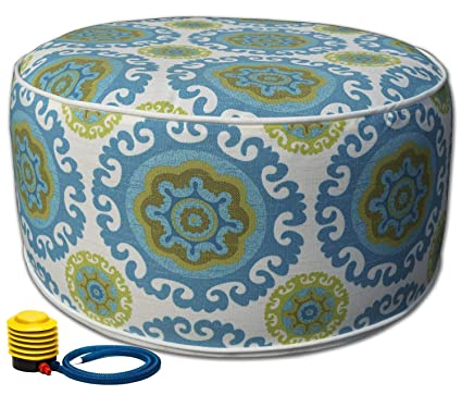 Stupendous Kozyard Inflatable Stool Ottoman Used For Indoor Or Outdoor Kids Or Adults Camping Or Home Blue Cjindustries Chair Design For Home Cjindustriesco