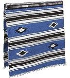 KERBL Tapis de Selle Navajo pour Cheval Bleu