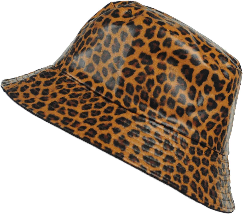 TOUTACOO, Rain Hat, Waxed mat, Woman, Waterproof. Leopard Print (Dark Brown) at  Women's Clothing store