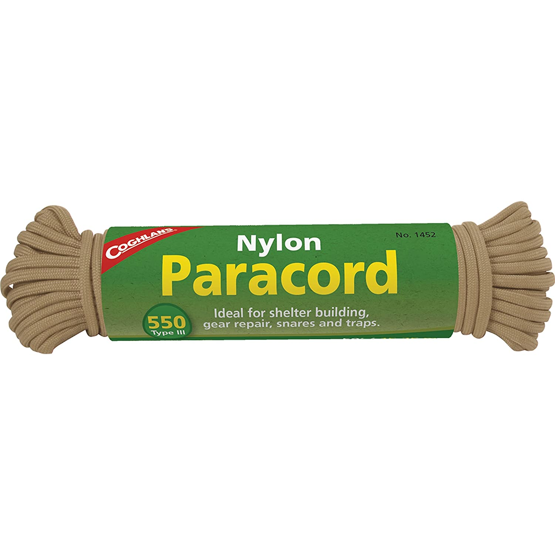Coghlans 550-Pound Nylon Paracord 50-Feet Orange Coghlans 0127.1061