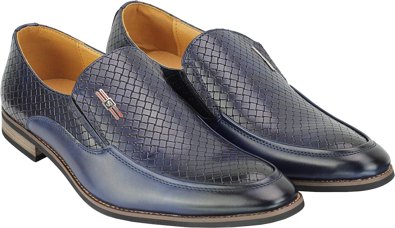 Slip Classique Homme sur Cuir Mocassins Faux Tiss/é Impression Intelligente Chaussures De Conduite D/écontract/é