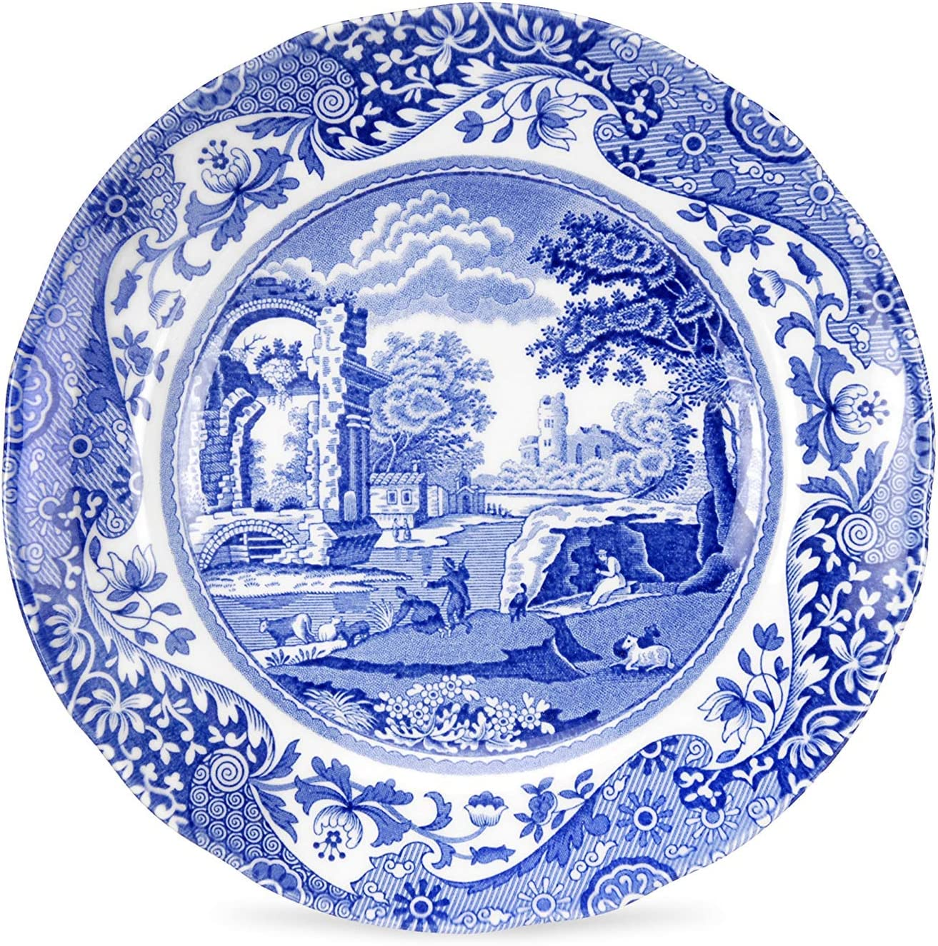 Vintage Spode Seasons  10 38 Dinner Plate The Spode Blue Room Collection