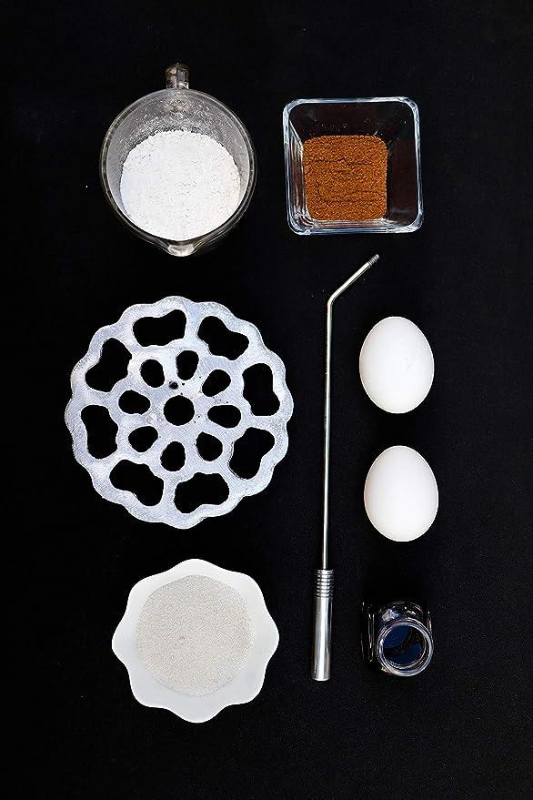 ... Molde, Rustic Aluminum Detachable Handle Cast Aluminum, Iron Metal Alloy, Bunuelos de Viento Tradicional Flor con Boton Design Mold para hacer Bunuelos ...