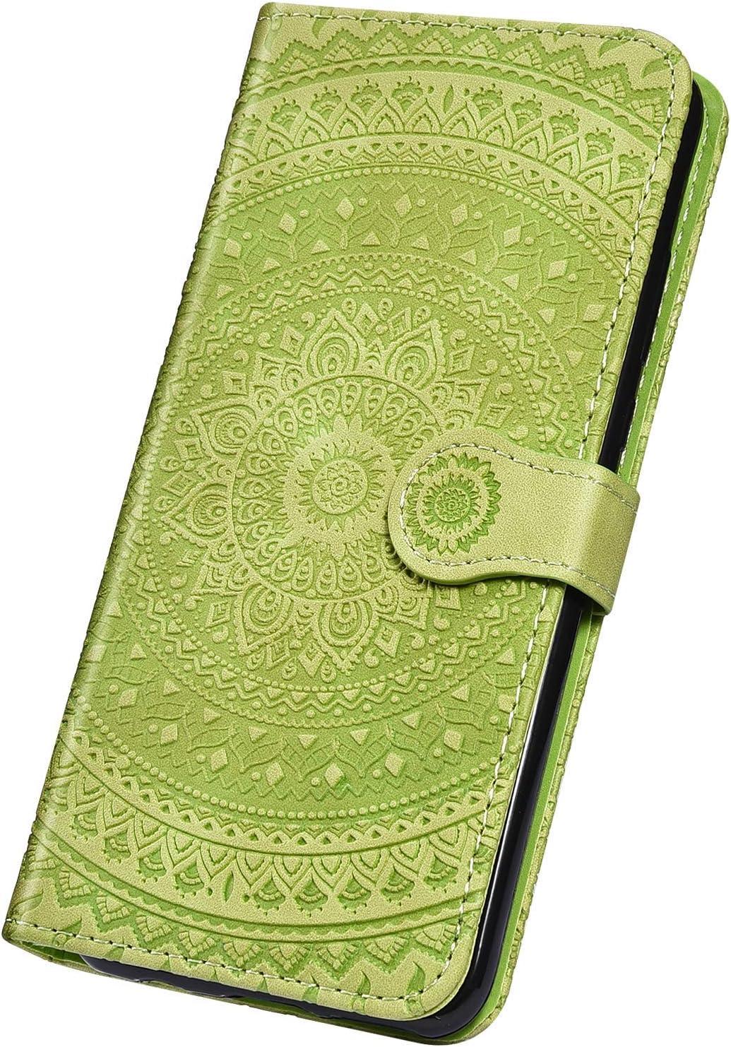 Surakey PU Leder H/ülle f/ür Samsung Galaxy A40 Handyh/ülle Schutzh/ülle Retro Mandala Blumen PU Leder Brieftasche Flip Case Wallet Tasche Ledertasche Handytasche St/änder Kartenf/ächer,Rot