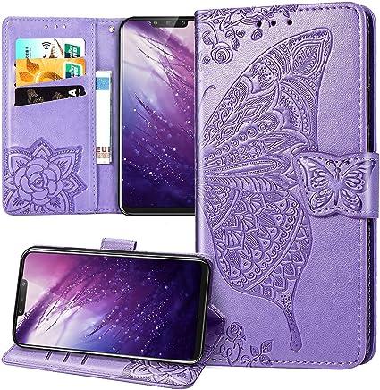 Coque Huawei Mate 20 Lite Etui Mate 20 Lite,Mandala Papillon Fleur ...