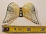 60mm Miniature Gold Metal Filigree Angel Wings