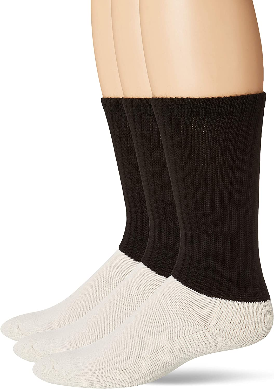 Jefferies Socks Men's Military Acrylic Antimicrobial Rib Crew Boot 3 Pack, black, Sock: