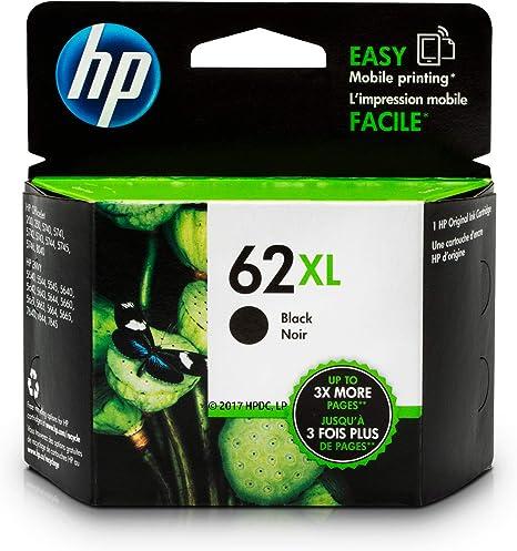 Amazon.com: Cartucho de tinta original HP 62X L Negro ...