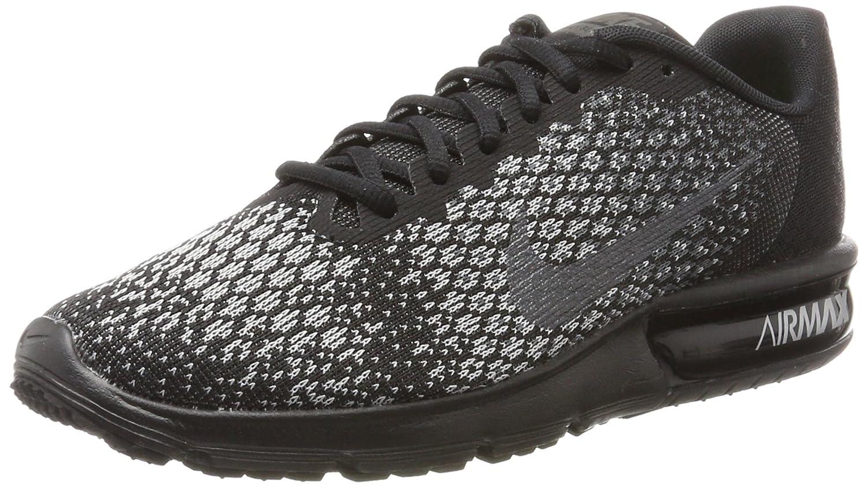 Alta venta de descuento Nike Hombre Air Max Sequent 2 Zapatos para correr Negro/Metallic Hematite-Dark Gris 296AE