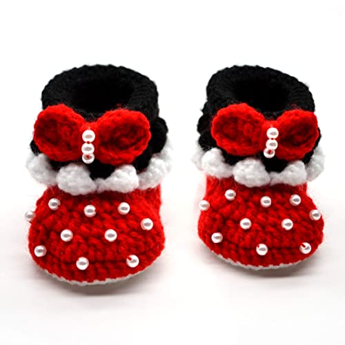f3af48b92587f Amazon.com: Crochet Baby Shoes for Infant and Newborn Girl, Excellent Gift  for Baby Shower, Halloween, Christmas, Soft Sole: Handmade