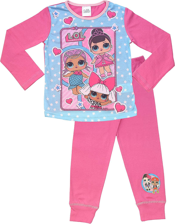 L.O.L Surprise Dolls Pyjamas for Girls Soft Cotton PJ Set Confetti Pop Lil Sisters Pyjama Sets
