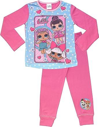 LOL Surprise! Pijama largo para niñas, diseño de muñecas LOL Surprise!, color rosa Rosa Rosa caliente/Azul 7-8 Años