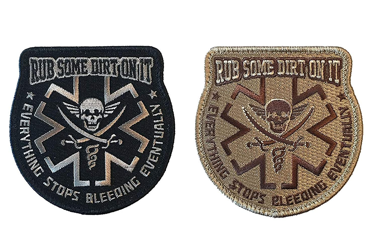 Antrix 2 Pieces Rub Some Dirt On It Medic Medical Patch EMS EMT Tactical Medical Aid Medical Care Morale Patches -3.53.5