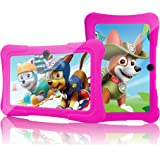 Kids HD Tablet - 7 Inch Kids Jumbo HD Tablet PC Bundle (Quad Core, 1 GB RAM, 8GB Hard Drive, Google Android Kitkat 4.4, WIFI Enabled) + Extra Heavy Duty Kid Proof Silicon Case - Tecwizz (Pink)