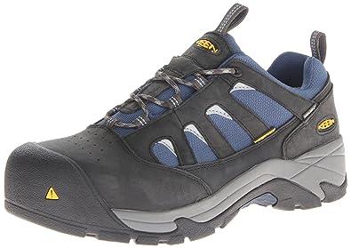 KEEN Utility Men's Lexington Composite Toe Work Shoe,Raven/Ensign Blue,8.5 D