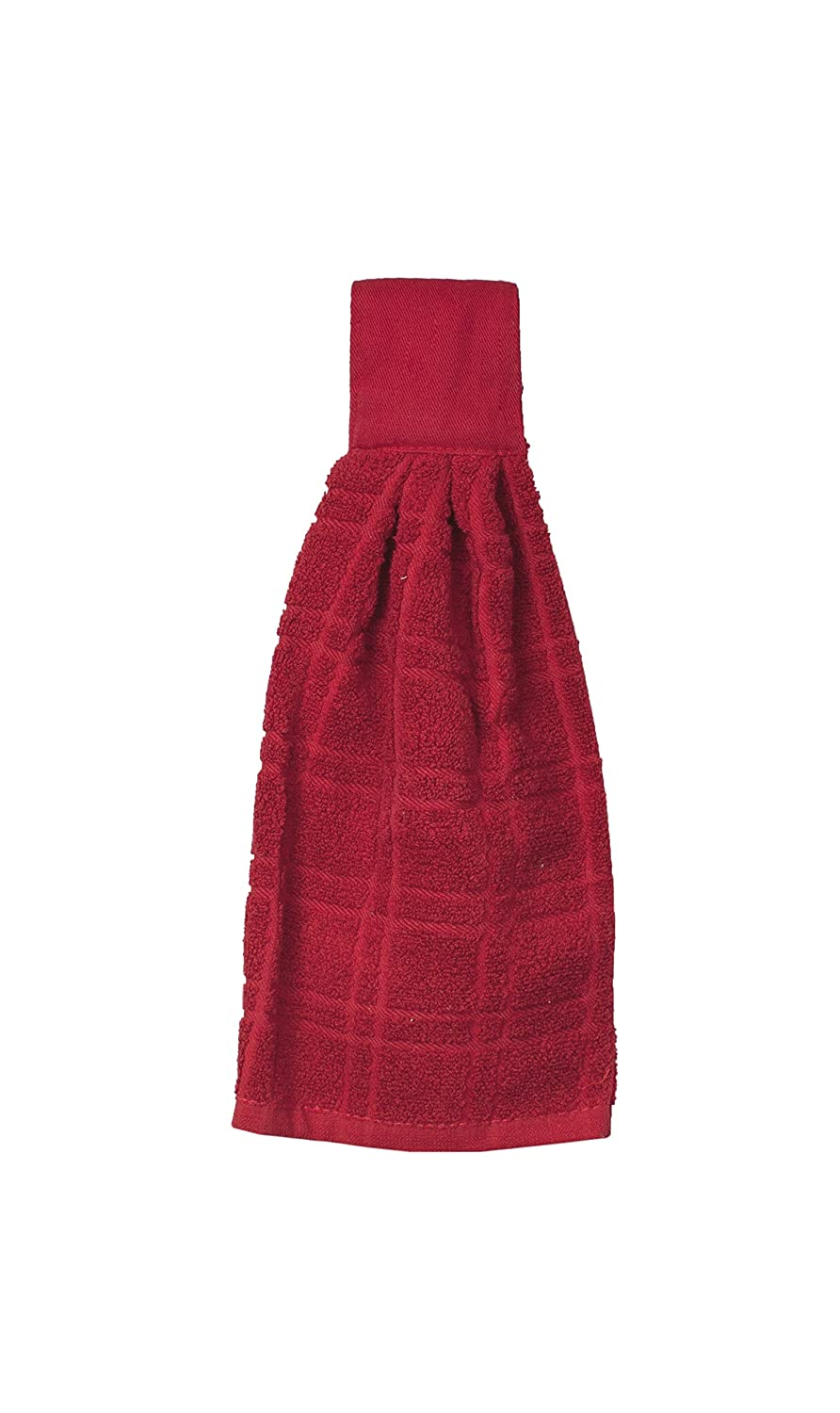 Ritz KitchenWears 100% Cotton Terry Hanging Kitchen Tie Towel, Paprika Red