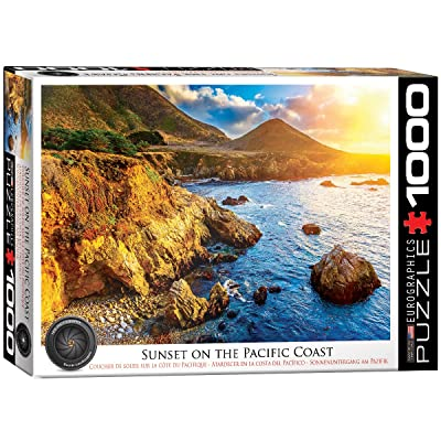 EuroGraphics Sunset on The Pacific Jigsaw Puzzle (1000-Piece): Toys & Games