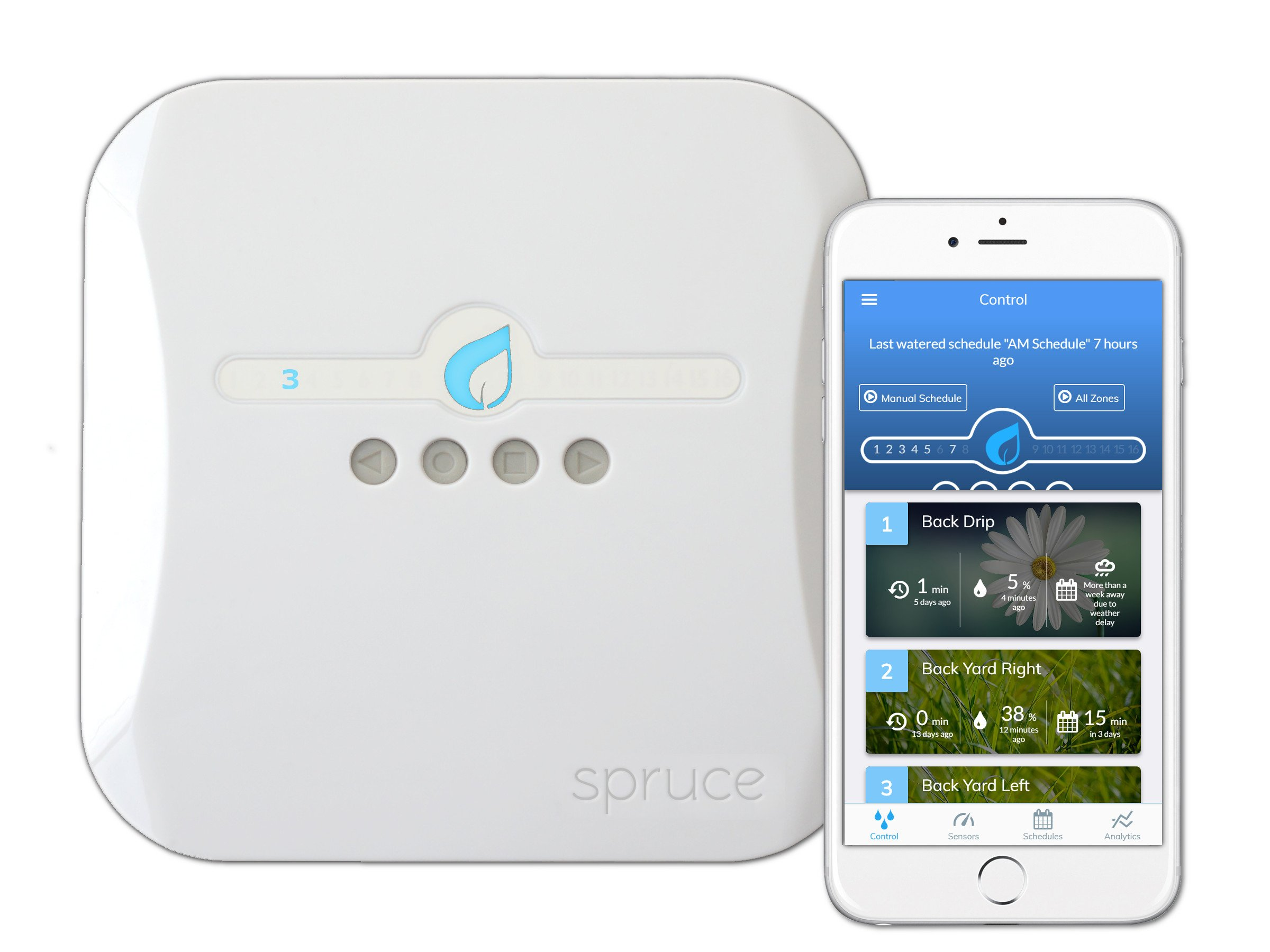 Spruce Irrigation 16 Zone Smart Wifi Controller (Gen 2), Compatible with Alexa