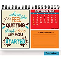 Accuprints Legends Motivational 2020 Calendar for Desk for Motivational Motivation 2020 Planner Office Home Table New Year Hanging Kids All Year School Gift Girls Room Living Room Planning (MD3)