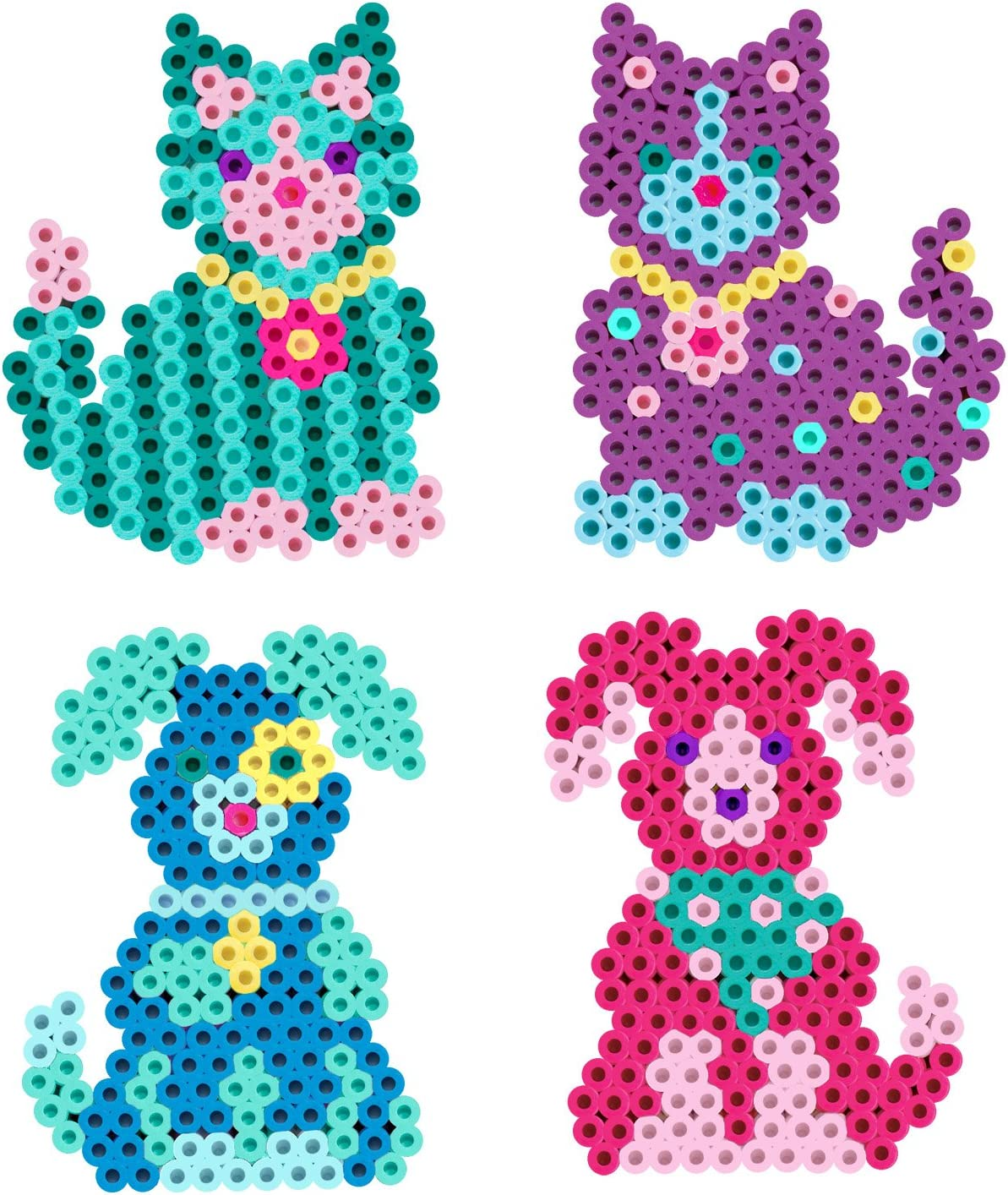 Amazon Com Perler Beads Kitties N Puppies Fused Bead Kit Arts Crafts Sewing