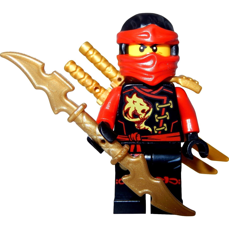 lego ninjago minifigurine kai skybound rouge ninja et swordholder deux lego pes et un galaxyarms pe amazonfr jeux et jouets - Ninjago Rouge