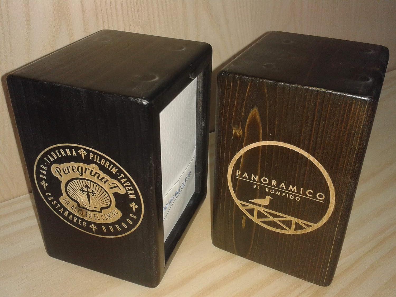 Personalizable Bricohostel Servilletero Bar de Madera para servilletas Mini-servis Rectangular 14 x 10,5 x 9 Natural