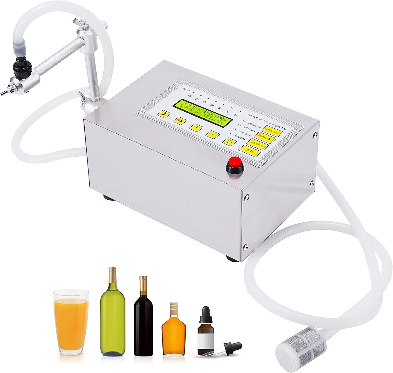 Hanchen Liquid Filling Machine 5-3500ml Bottle Filling Machine Electric Digital Control Pump for Liquid, Water, Juice, Edible Oil, Single Heads, One Year Warranty 110~220v