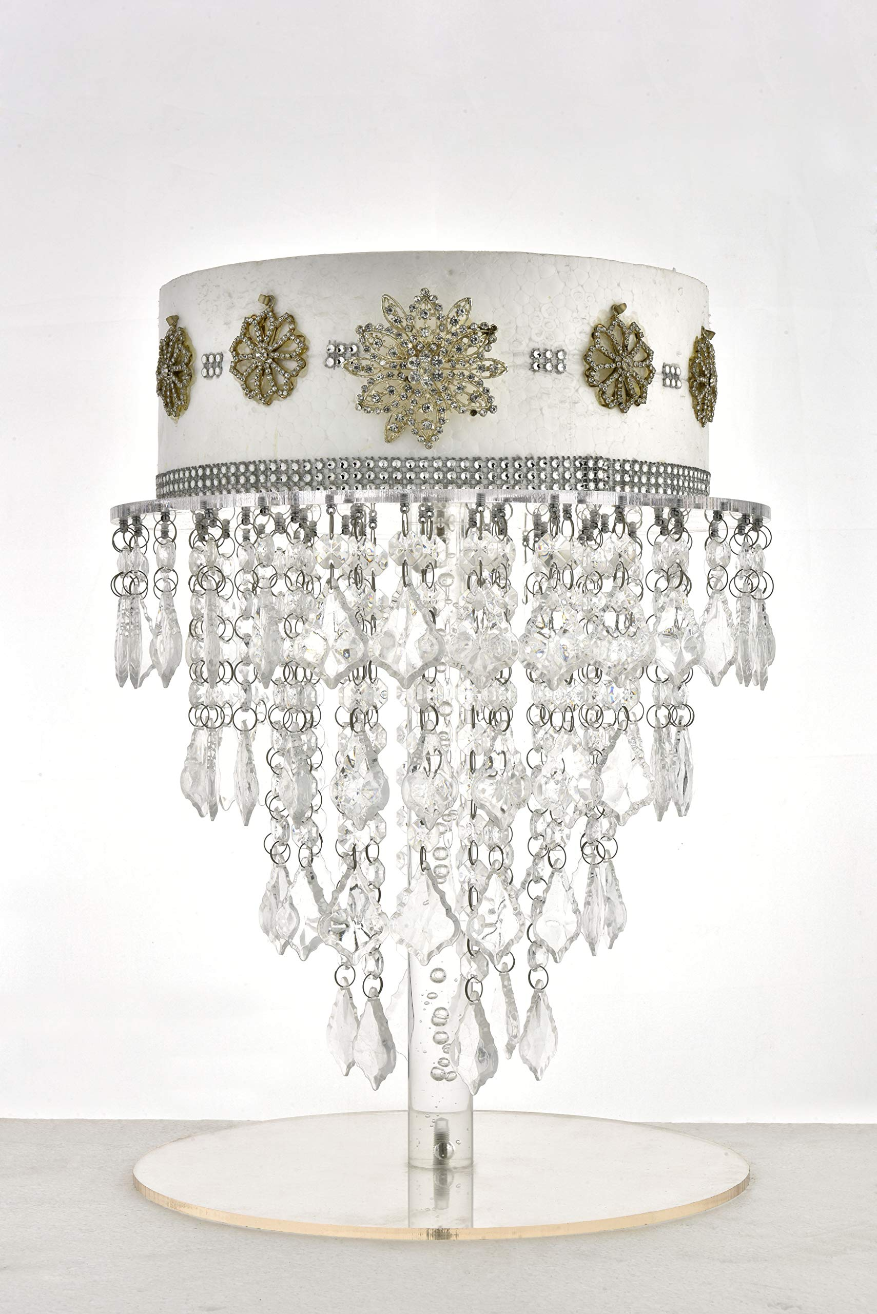Butterflyevent Crystal Chandelier Cake stand Acrylic Cupcake Stand Wedding Table Centerpieces Decorations