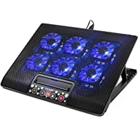 Kingpeony 6 Quiet Fans Gaming Laptop Cooling Pad Lap