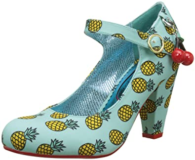 Poetic Licence by Irregular Choice The Right Stripes, Damen Mary Jane Halbschuhe, Schwarz (Black/Yellow), 39 EU (6 UK)
