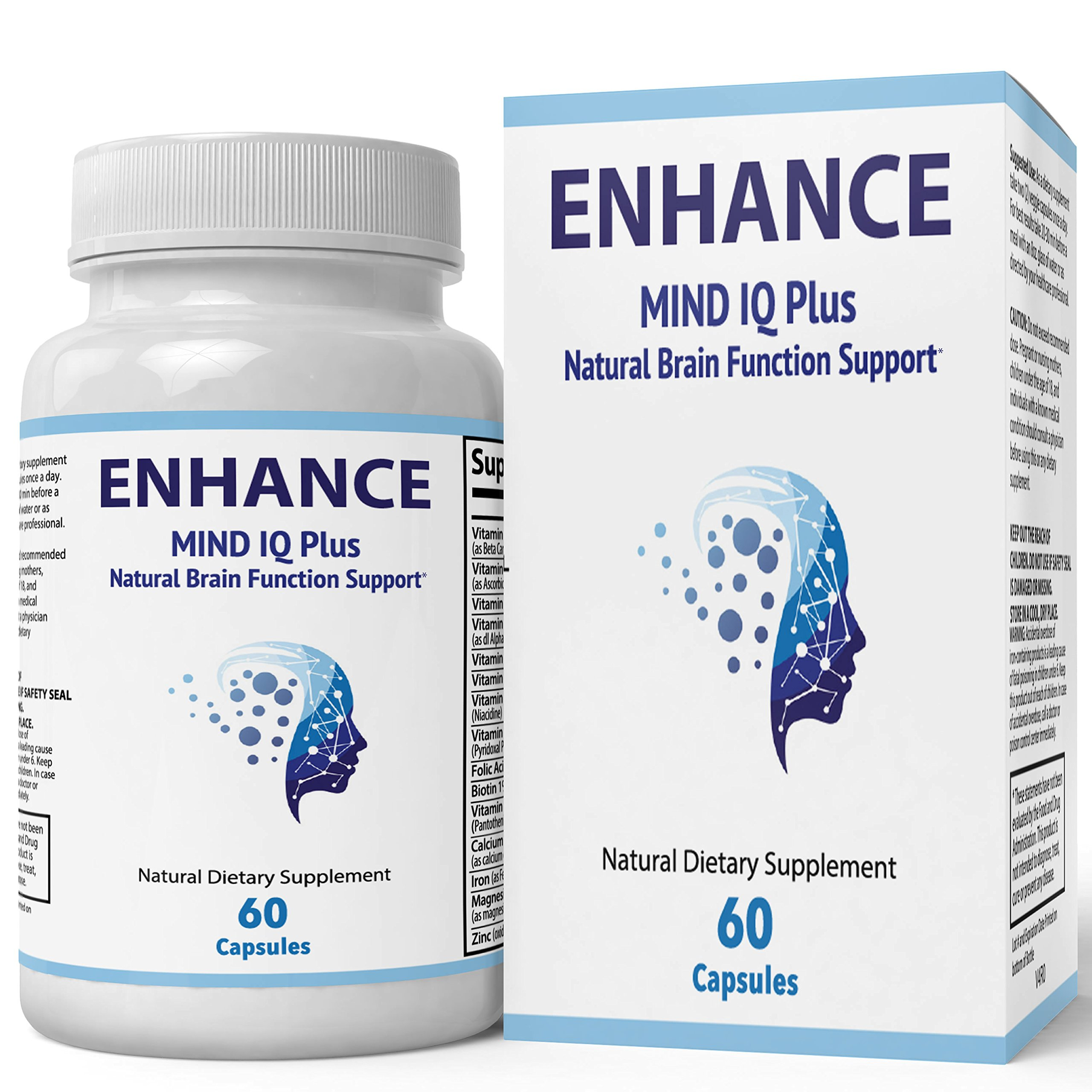 Enhance Mind IQ Supplement - Advanced IQ Brain Supplement - Enhance Mind IQ Pill/Advanced IQ Plus Supplement - Original Enhanced Mind IQ Plus Limitless Pill by nutra4health (60 Count) (60 Count)