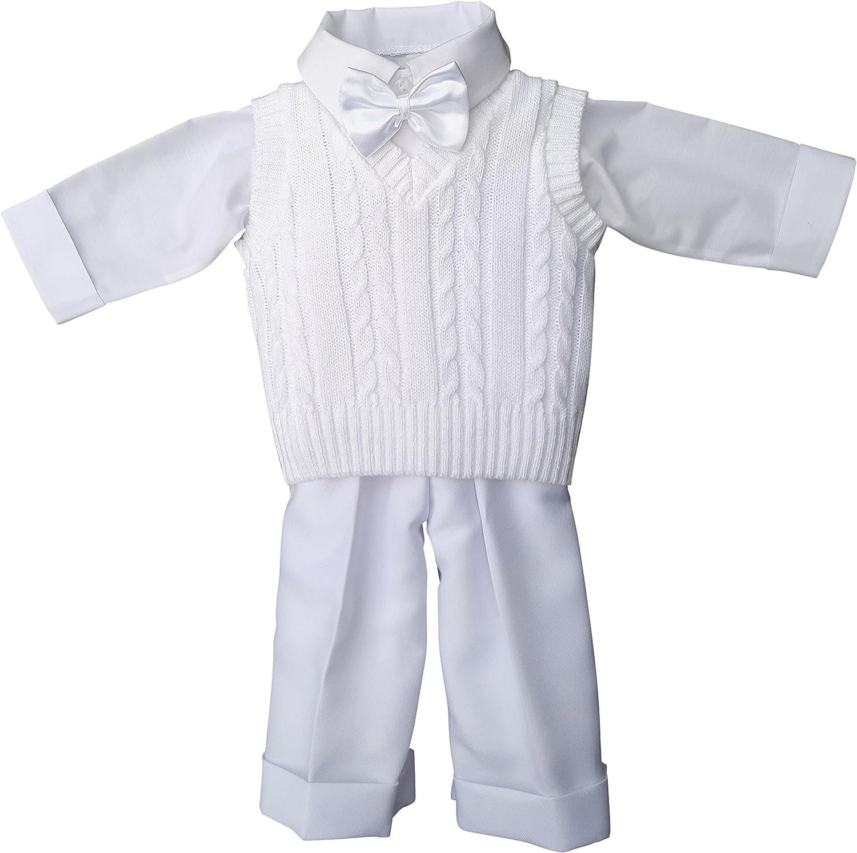 deine-Brautmode Taufanzug Festanzug Jacke Steppjacke M/ütze Hose Hemd Weste Fliege Taufe Baby Anzug grau