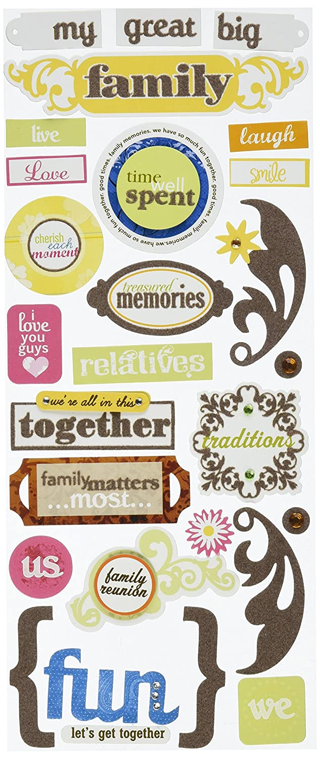 Me and My Big Ideas Self-Adhesive Designer Chipboard, My Great Big Family CBP-77