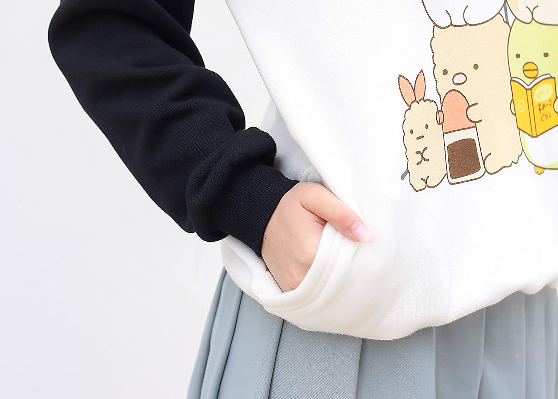 packitcute Kawaii Cartoon Cotton Fleece Hoodie for Women