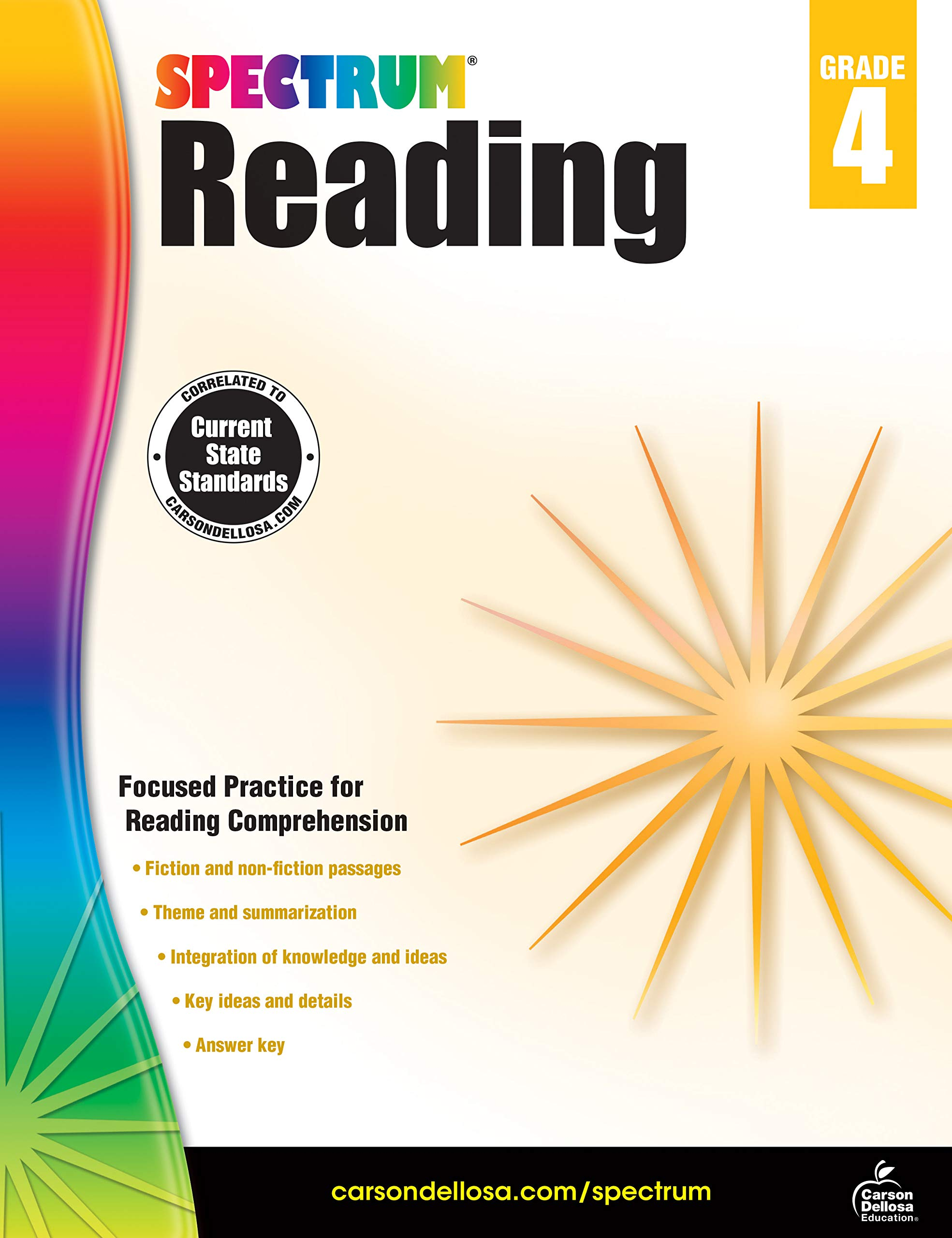 - Spectrum Reading Workbook 4th Grade, 174pgs: Spectrum
