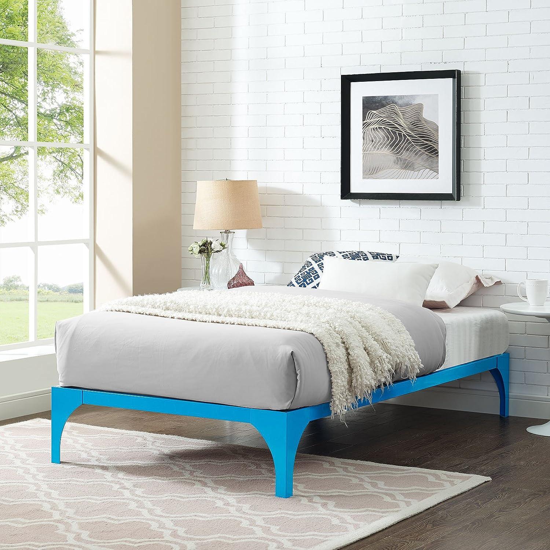 Amazon.com: Modway Ollie Steel Twin Modern Platform Bed Frame ...