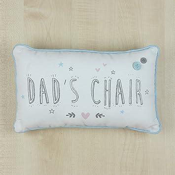 Dad s silla sentimiento Estilo Vintage cojín con botones ...