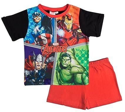 7fff1649d5f Marvel Avengers Boys Short Pyjamas Pjs