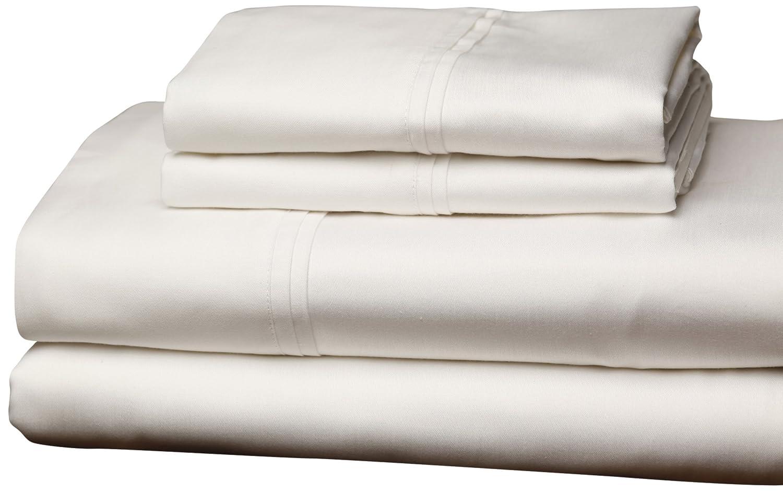 Leggett /& Platt QH0274 White 4-Piece T310 Home Collection Bed Sheet Set with 310-Thread Count Fabric Queen Leggett /& Platt Home Textiles