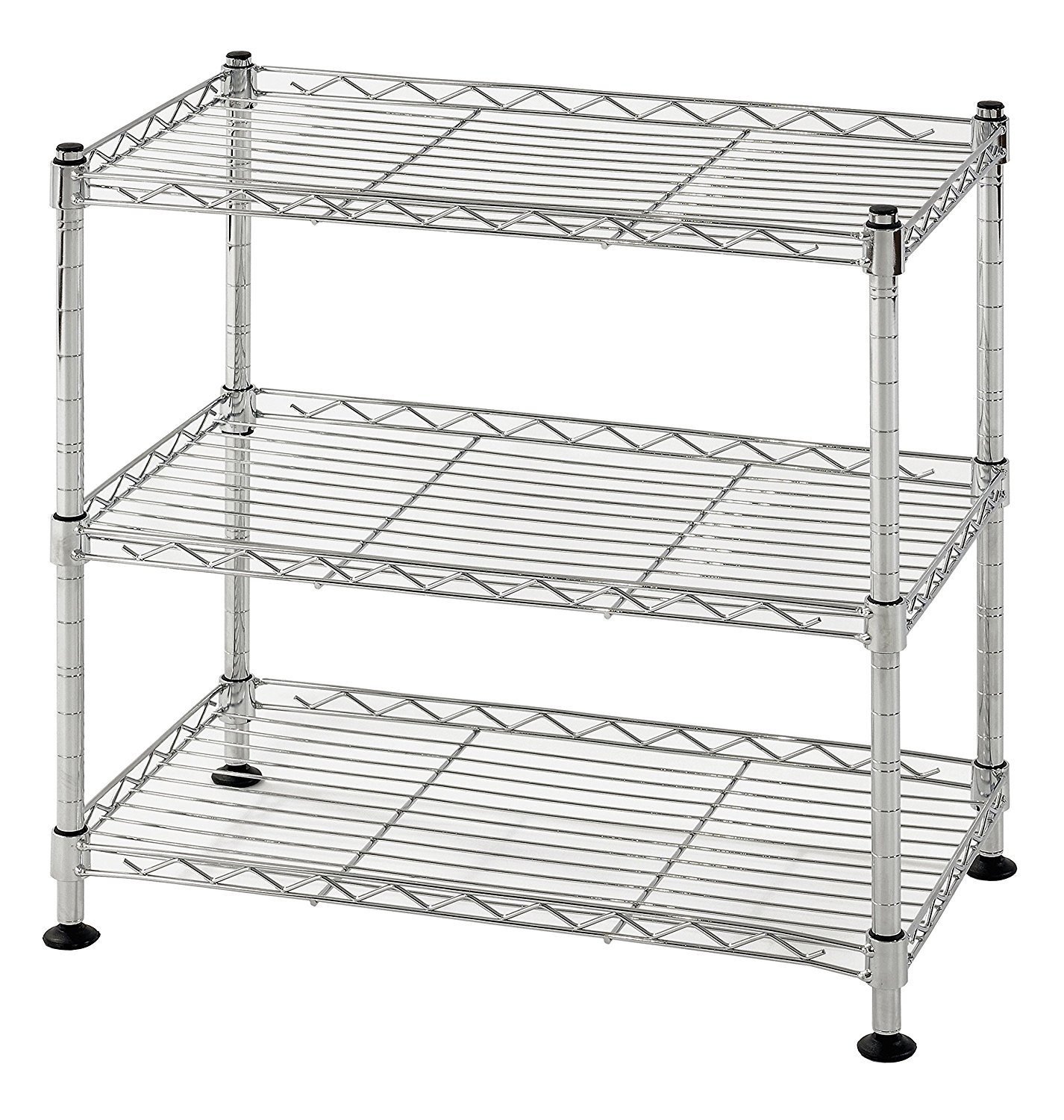 Muscle Rack WS181018-C Steel Adjustable Wire Shelving, 3 Shelves, Chrome, 18'' Height, 18'' width, 264 lb. Load Capacity (1.PACK) by Muscle Rack (Image #1)