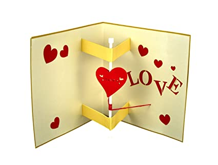 Love Greeting Cards Handmade With Envelope For Anniversary Valentines DayWeddingBirthday To